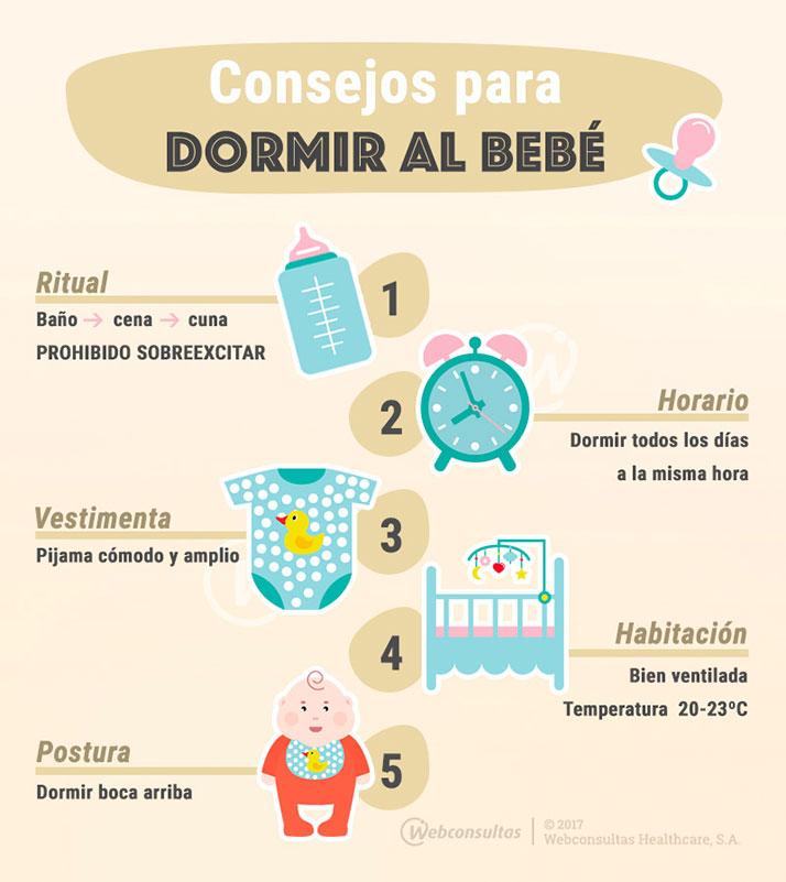 Consejos para dormir al bebé