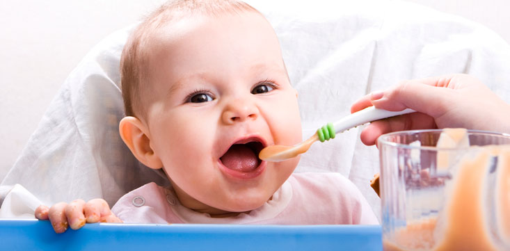La nutrición del lactante a partir del cuarto mes - Dieta y Nutrición