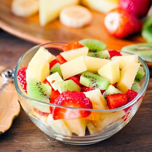 Consume tres raciones de fruta y dos de verdura al día