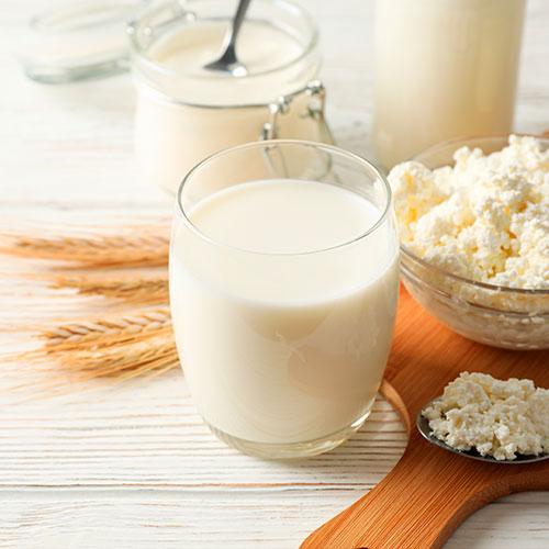 Fuentes hidratos de carbono: lácteos