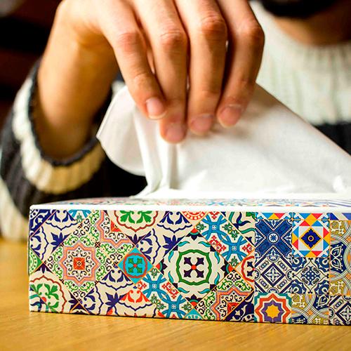 Pañuelos de papel disponibles