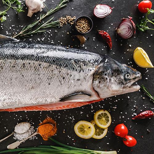Alimentos principales de la dieta nórdica: salmón