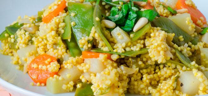 Cocinar Mijo | El Mijo Usos En La Cocina Receta De Mijo Con Verduras Salteadas