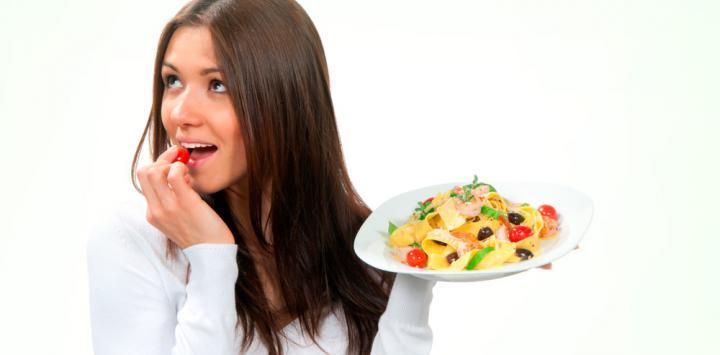 Diabética disfruta de la comida