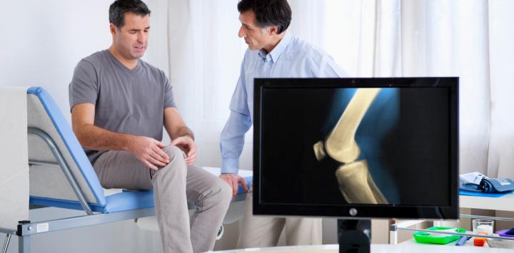 Paciente con lesión en rodilla