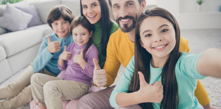 ¿Te portas bien con tu familia?
