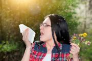 Mujer alérgica