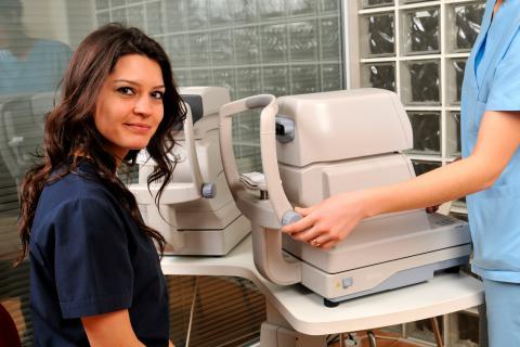 Preparación para el examen de fondo de ojo