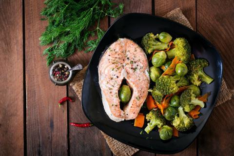 Receta de cocina de salmón al vapor