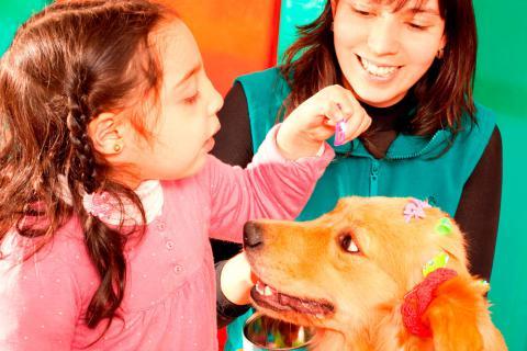 Los niños conectan muy bien con los animales