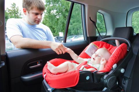 C mo colocar la sillita del coche del beb beb s y ni os for Sillas para carro kiddo
