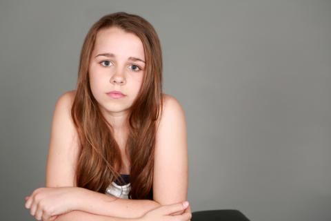 Niña con pubertad precoz