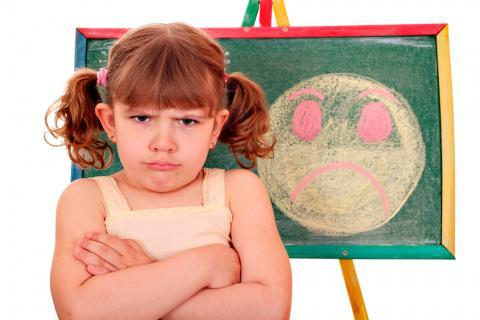 Niña con fobia escolar