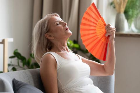 Mujer en la etapa de la menopausia