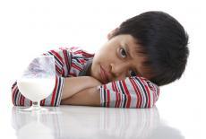 Niño con galactosemia
