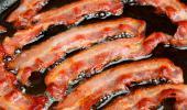 Bacon con exceso de grasas