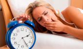 Mujer con falta de sueño