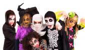 Grupo de niños disfrazados