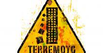 Cartel de advertencia sobre los terremotos