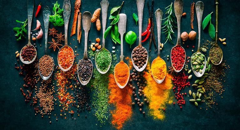 Especias como ingrediente para las cremas de verduras
