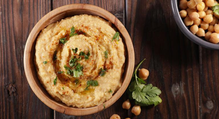 Hummus de crema de cacahuete