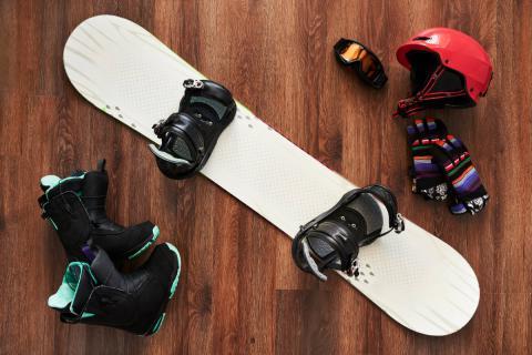 material necesario para practicar snowboard Ejercicio y