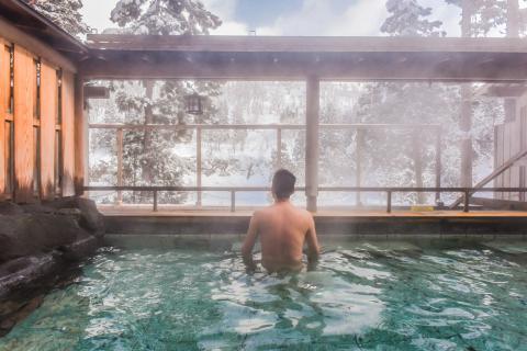 Beneficios del baño en un ofuro japonés