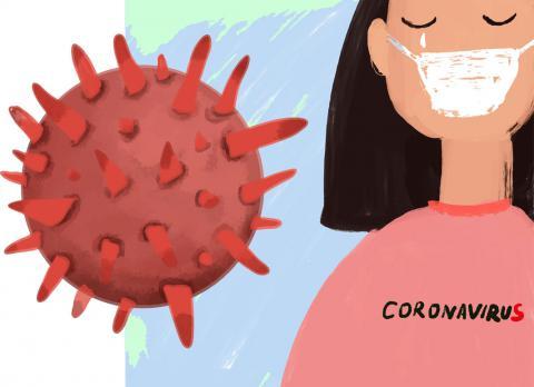 Concepto cuarentena del coronavirus