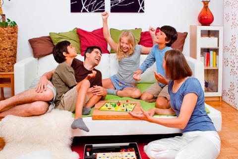 Para en caseros juegos familia compartir