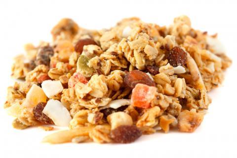 Fibra alimentaria en frutos secos y cereales
