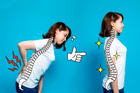 Chica con problemas de postura