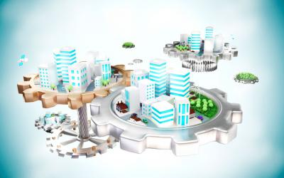 Concepto de Smart City o ciudad inteligente