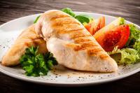 Pollo asado sin piel
